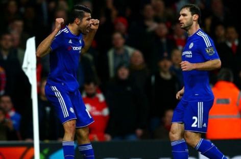 Arsenal 0-1 Chelsea: Costa downs Gunners after Mertesacker sees red