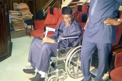 Corruption trial: Haliru Bello appears in court on wheelchair
