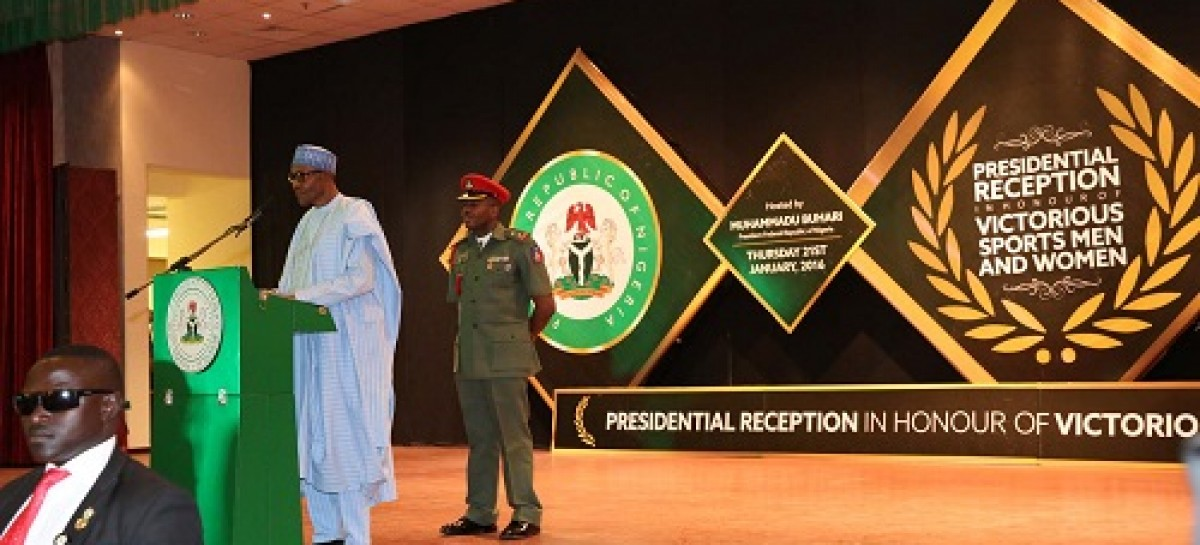 Buhari rewards Eaglets, others with cash gifts