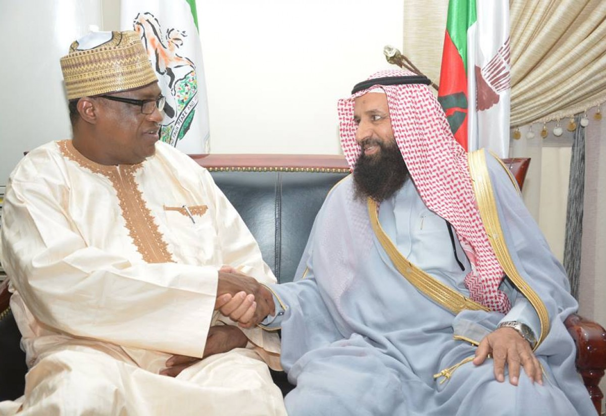 A Courtesy Call On Governor Ibrahim Gaidam of Yobe State By Consul-General of the Saudi Arabian Consulate in Kano, Mr. Majid Muhammad al-Qahtani