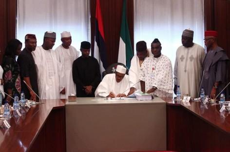 Buhari signs N6.06trn 2016 budget