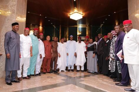 Buhari meets governors, Igbo leaders