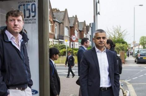 New London Mayor Sadiq Khan Takes Bus To Work