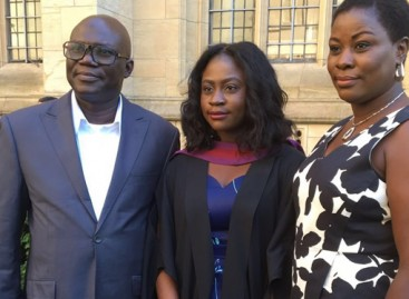 Abati's daughter bags first class degree in Law from UK varsity