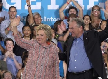 Clinton selects Tim Kaine as running mate