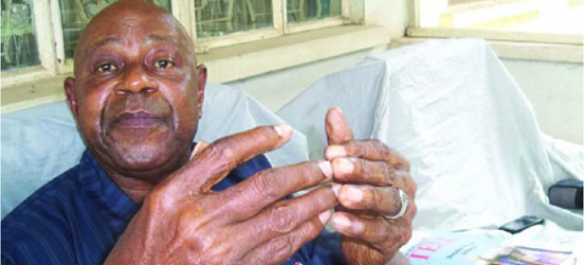 President Buhari felicitates with Tam David-West at 80