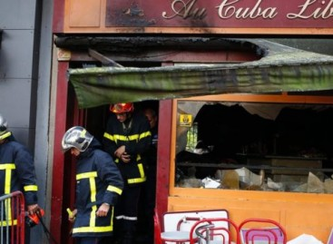 France Rouen: Fire kills 13 at birthday party in bar