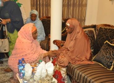 Aisha Buhari condoles with Buratai over father in-law's death