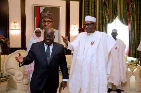 Buhari meets Ghana's President-elect, Nana Akufo-Addo at State House