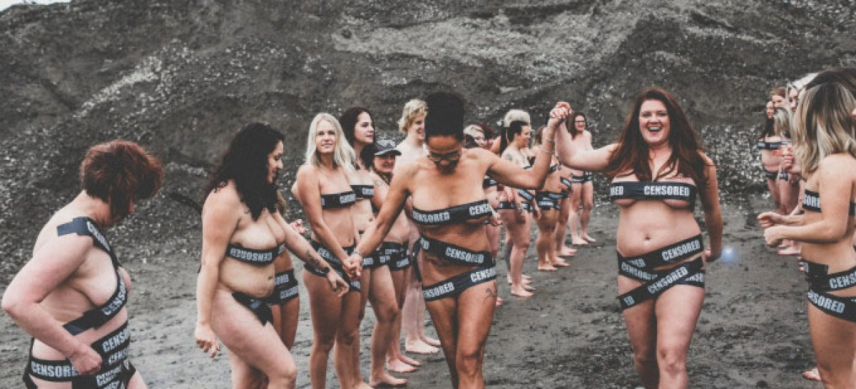 Trina Cary, others strip naked to protest Facebook nudity rules