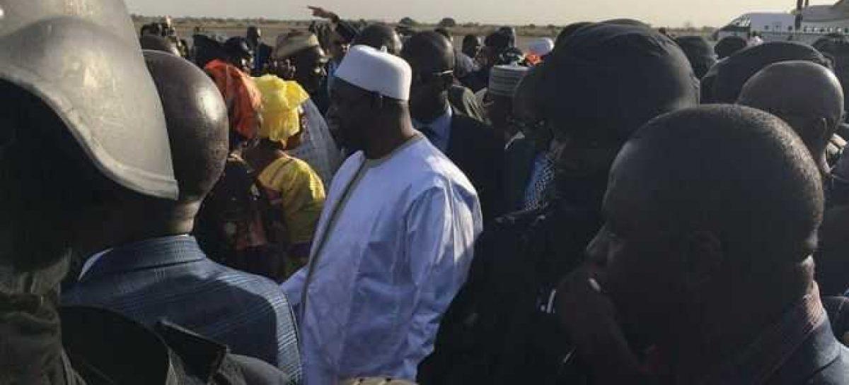 Gambia's new President Adama Barrow arrives home