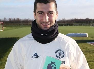 Henrikh Mkhitaryan wins December goal of the month