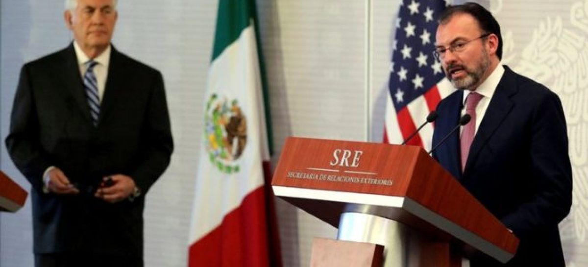 Mexico foreign minister vents 'irritation' at Rex Tillerson