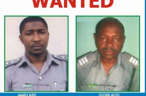 Seized rifles: Wanted customs officers surrender