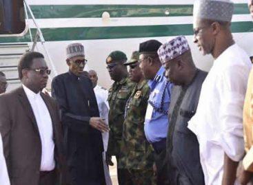 BREAKING:  Buhari in closed-door meeting with Osinbajo, others
