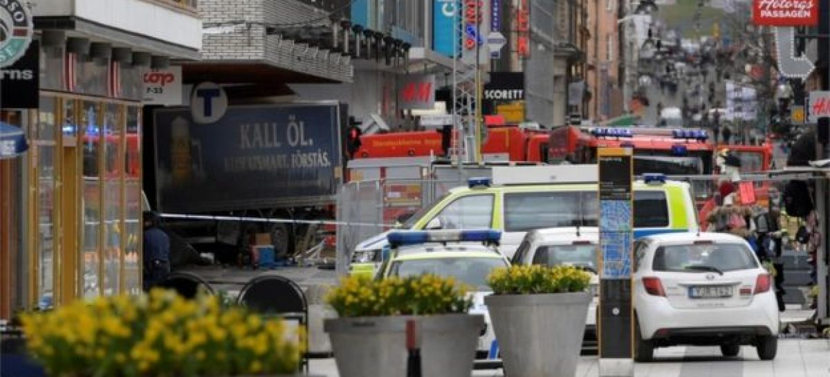 Three feared dead as lorry rams into store in Sweden