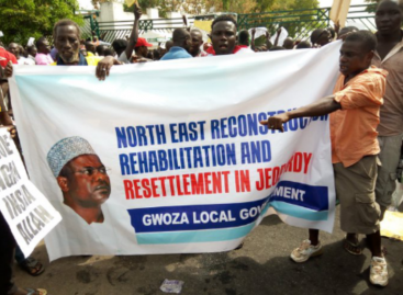 Protesters storm NASS over Ndume's suspension