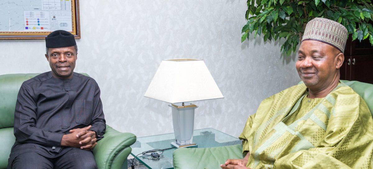 Osinbajo meets former VP, Namadi Sambo