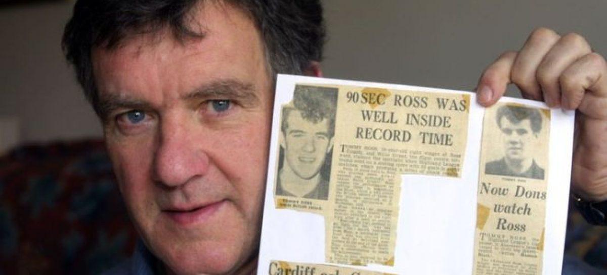 Scorer of fastest hat-trick in football history, Tommy Ross, is dead