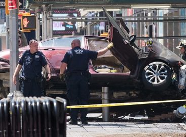 I heard voices, claims driver who killed teenager at Times Square