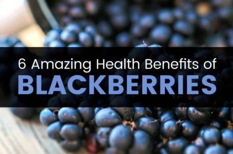 6 amazing health benefits of blackberries