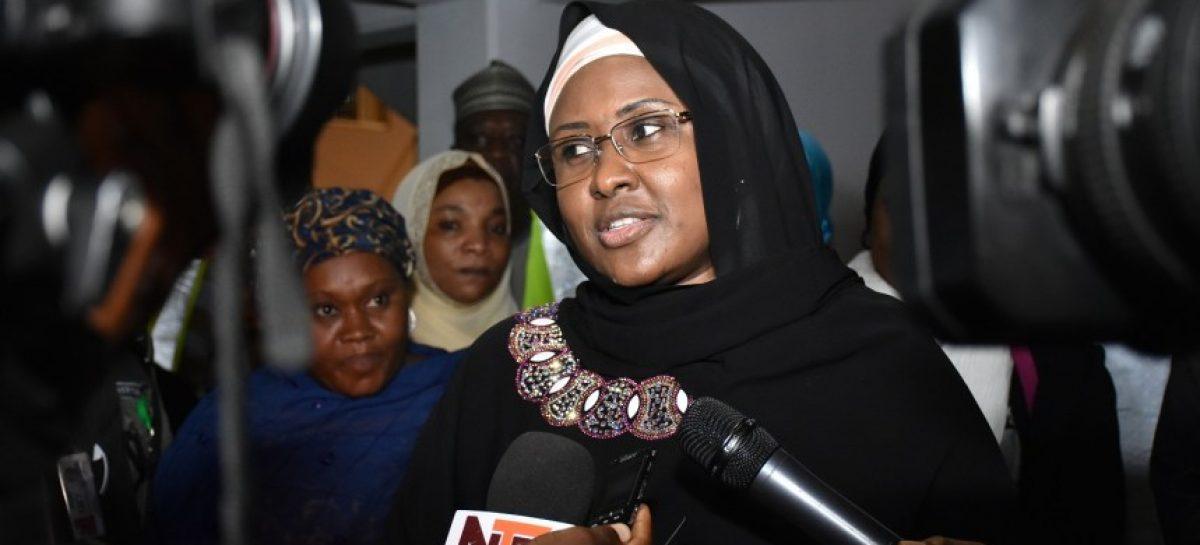 Aisha Buhari returns to London to see ailing President