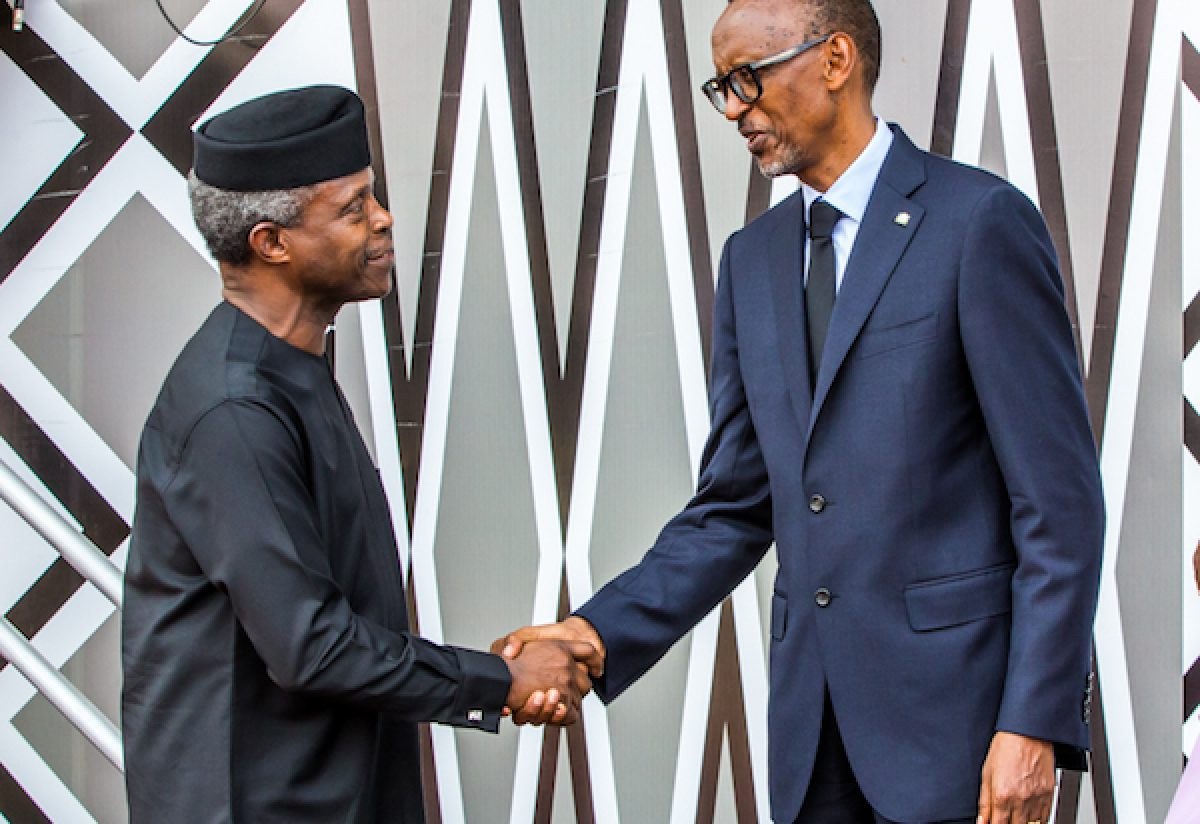 Ag President Osinbajo Attends Presidential Inauguration In Kigali, Rwanda