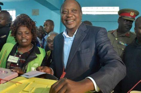 Kenyatta takes lead in Kenya's presidential poll