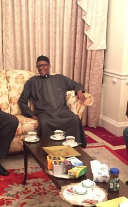 Saraki, Dogara visit Buhari in London