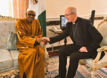 Archbishop of Canterbury, Justin Welby, visits Buhari, expresses delight over recovery