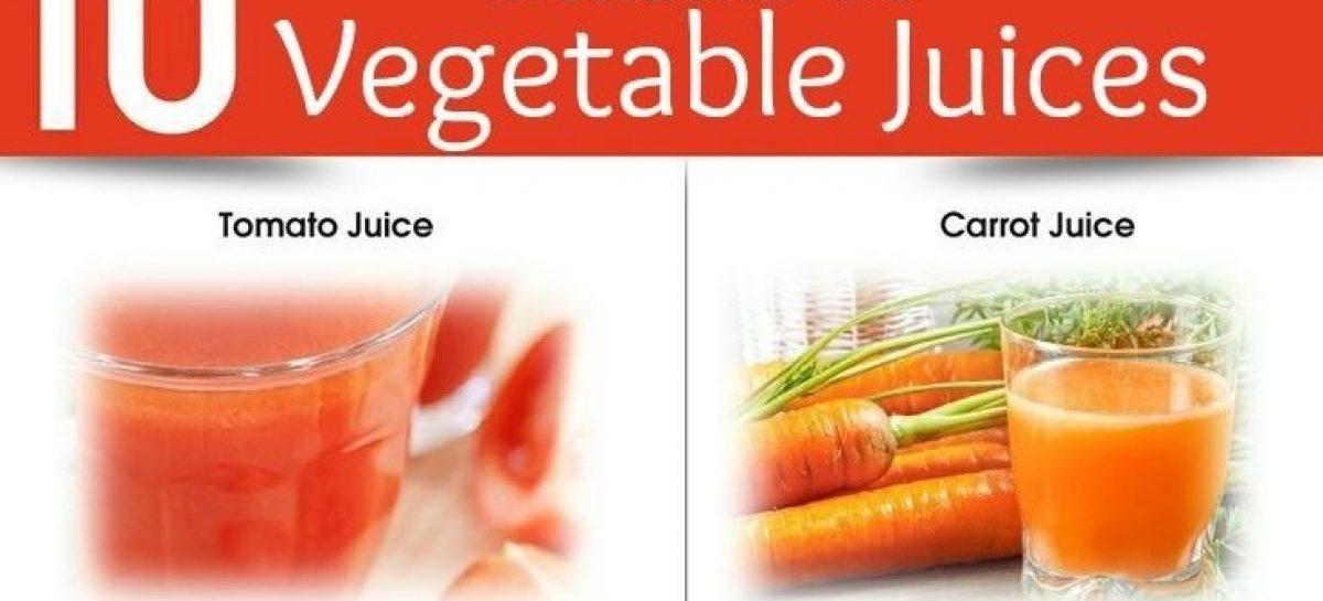 10 amazing benefits of drinking vegetable juices