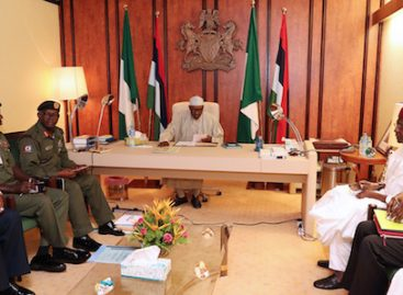 Its your duty to keep Nigeria one, Buhari tells security chiefs