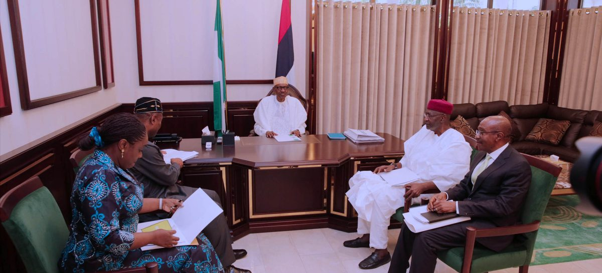 Buhari receives briefings on economy, expresses gladness over recovery