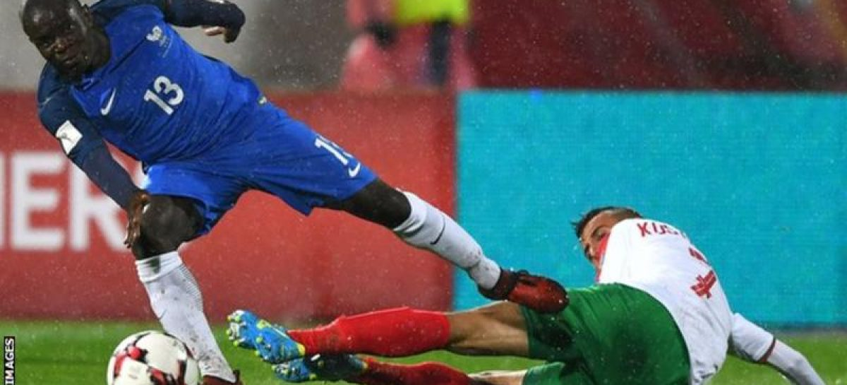 Kante out for three weeks