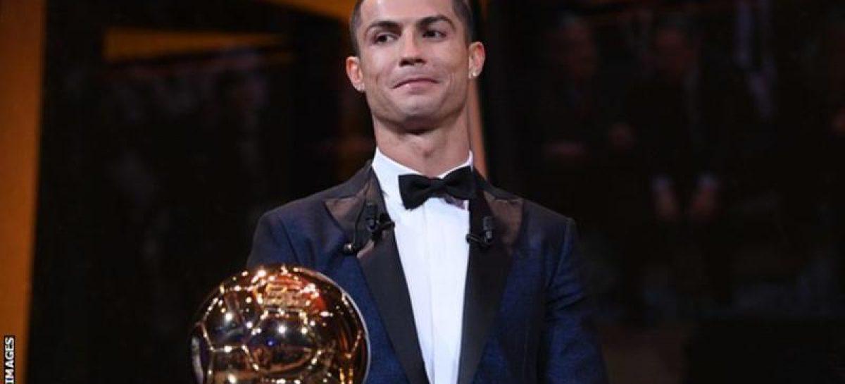 Ronaldo floors Messi to win fifth Ballon d'Or