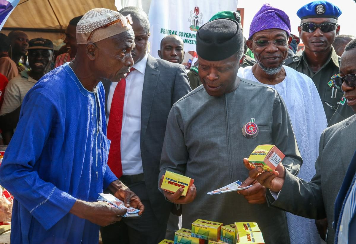 Photos: VP Osinbajo attends Nationwide Micro, Small And Medium Enterprise Clinics For Viable Enterprises (MsME Clinics) In Osun State.