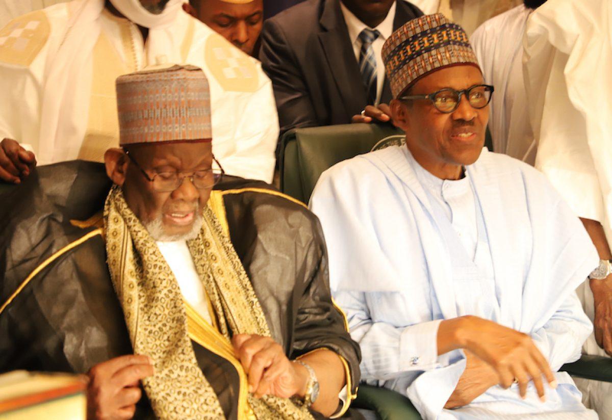 President Muhammadu Buhari Receives Leader Of Grand Khalifa Of Tijjaniya At The State House Abuja, June 20, 2018. Photo: State House