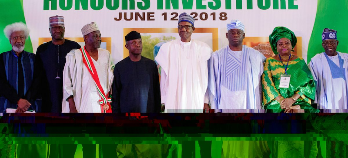 Remarks By His Excellency Muhammadu Buhari President Of The Federal Republic Of Nigeria At The Commemoration And Investiture Honouring The Heroes Of June 12 1993  Wednesday 12th June, 2018