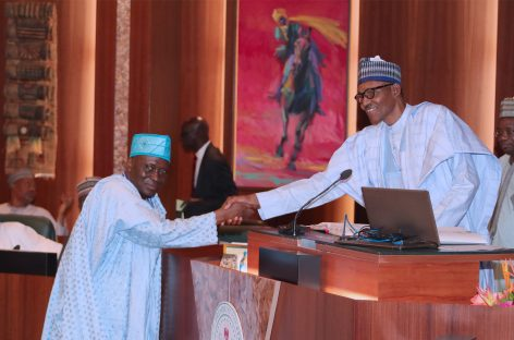 Buhari wears-in chairman, members of Police Service Commission