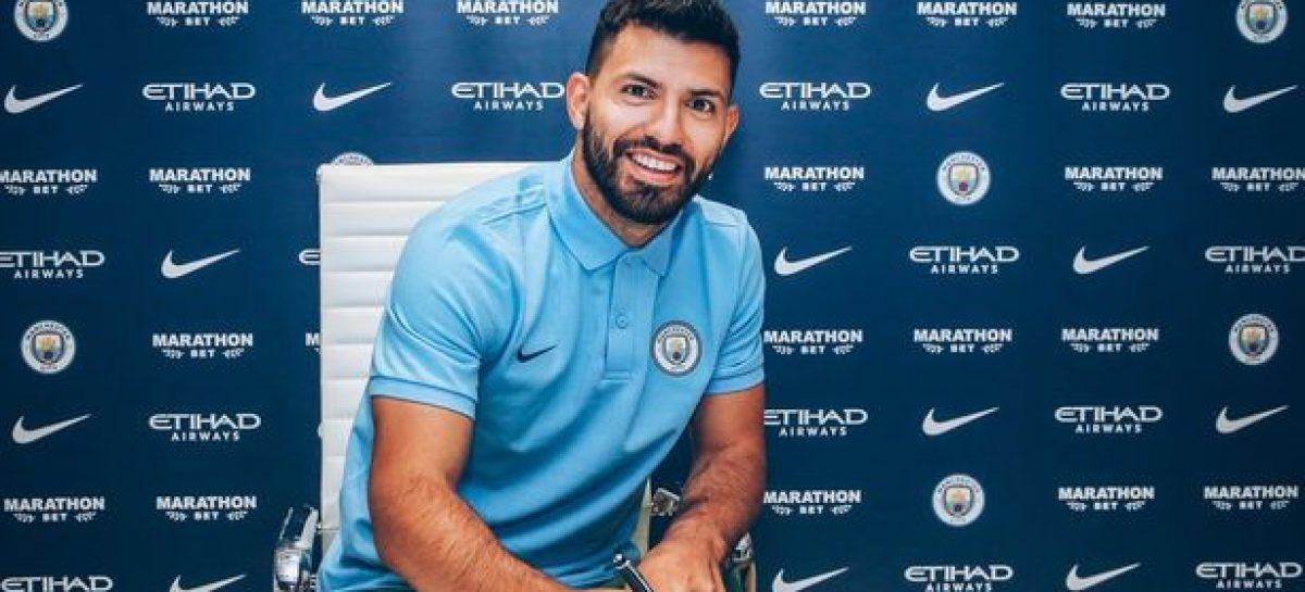 Aguero extends City stay for another year
