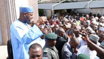 Dogara confirms return to PDP, submits nomination form