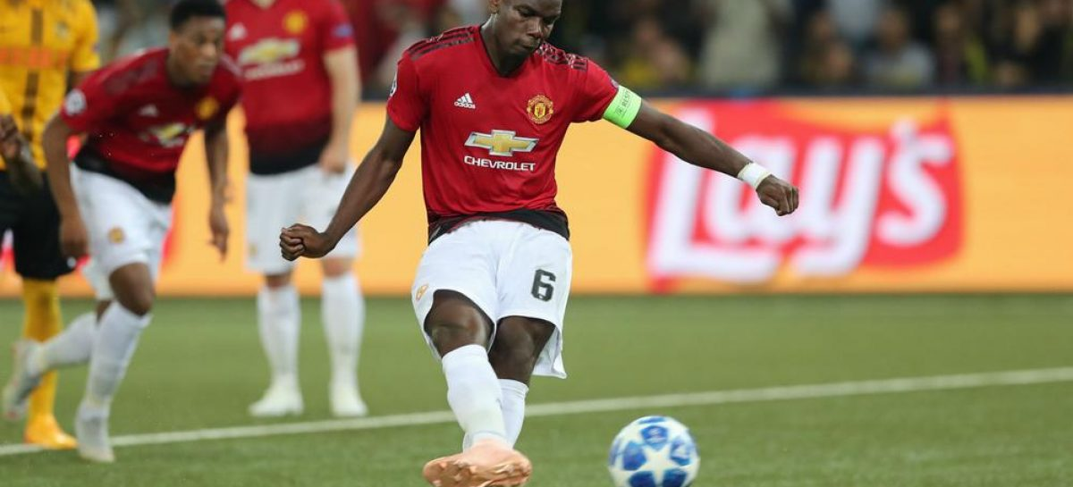 Pogba scores twice as United beat Young Boys 3-0