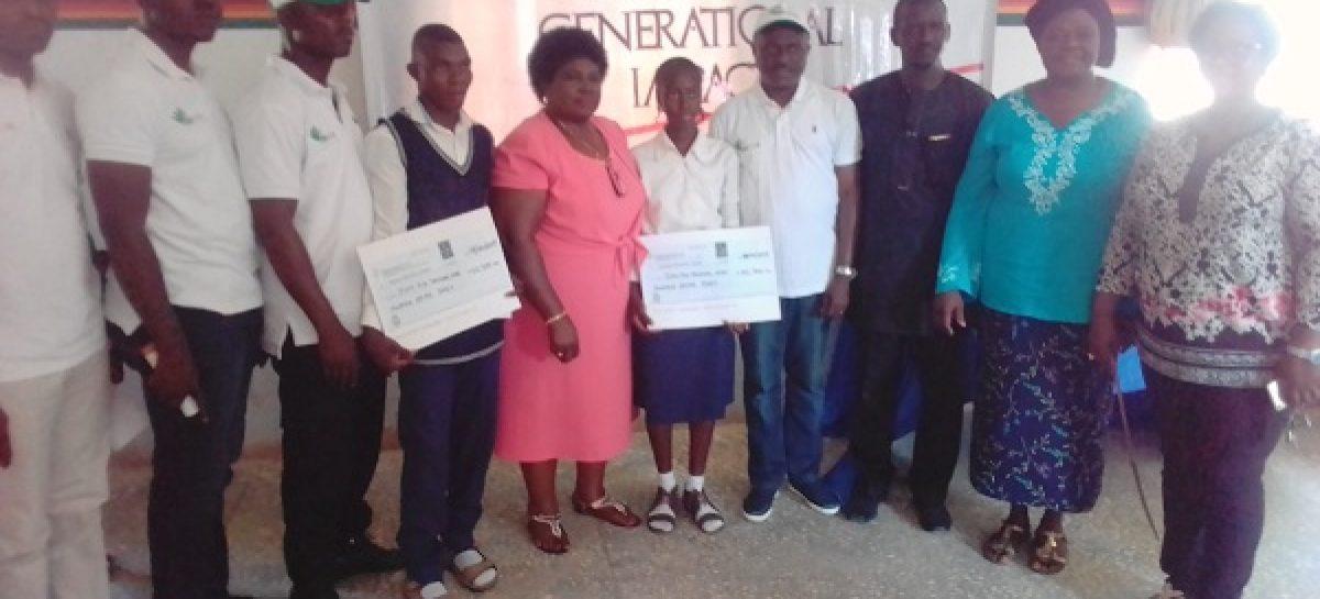 Evergreen Club awards bursary to 2 indigent GSS Karu students