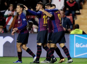 Barca strike late to secure crucial victory against Rayo