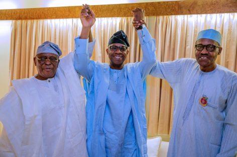2019: Buhari meets Segun Osoba, Ogun APC gubernatorial candidate