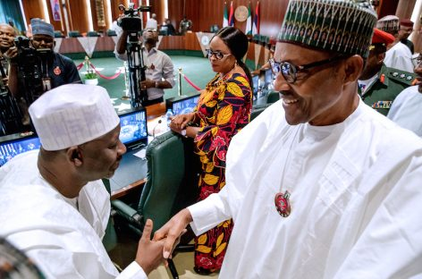 Address infrastructure deficits in states, Buhari tells govs