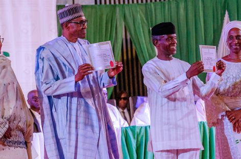 Buhari gets INEC's certificate of return, promises to run all-inclusive government