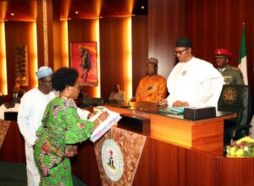Buhari swears-in Oyo-Ita as substantive Head of Service
