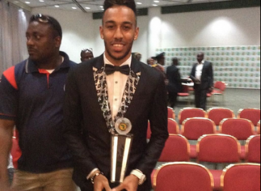 Aubameyang wins 2015 African player of the  year