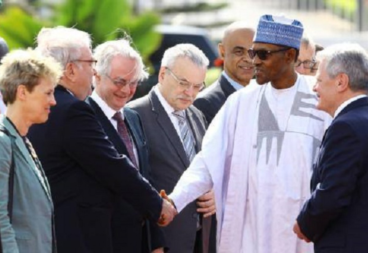 President Muhammadu Buhari receives President of Federal Republic of Germany, Joachim Gauck at the State House in Abuja on Thursday, February 11, 2016